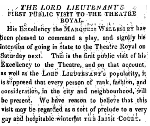 An announcement that appeared in the Freeman's Journal, December 1822.