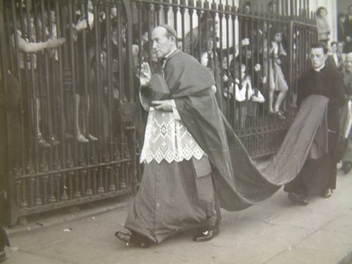 Archbishop McQuaid, targeted by Sinn Féin protests in 1970 over Merrion Square Park.