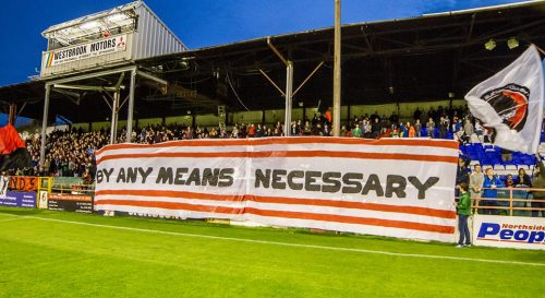 Bohs supporters at Tolka Park. IMAGE: Paul Reynolds.