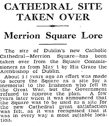 1970s Protests To Open Merrion Square Park To The Public