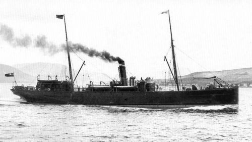 An undated image of the S.S Hare.