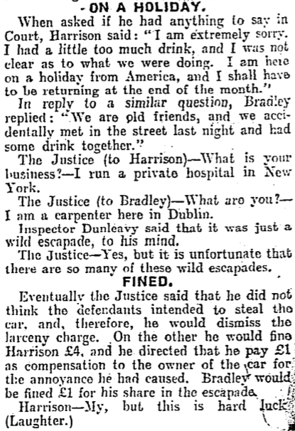 21 August 1929. The Irish Times.