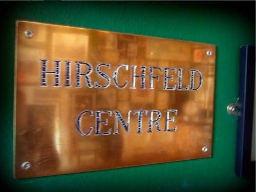 A sign of the times. Taken from the front of the Hirschfeld Centre, it is now on display in The Little Museum of Dublin.