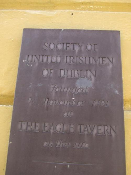 The Eagle Tavern plaque.
