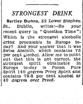 Letter from Bartley Dunne to Irish Independent (27 Aug 1959)