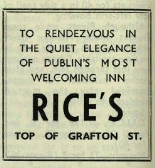 Advertisement for Rice's. Trinity News (13 May 1965)