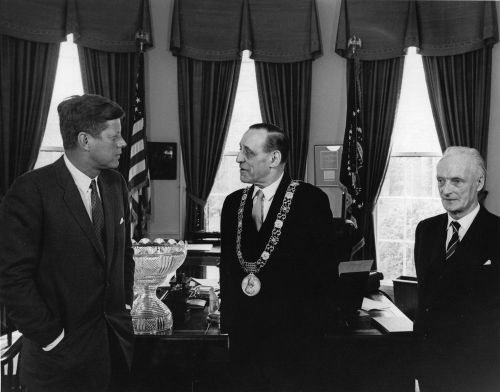 JFK meeting with IRA veteran Robert Briscoe, Lord Mayor of Dublin. 26 March 1962. Credit - jfklibrary.org.