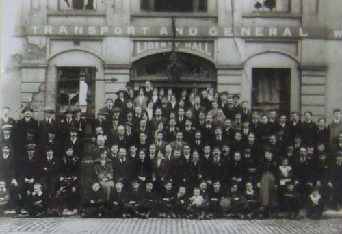 The Irish Citizen Army at Liberty Hall, 1917.