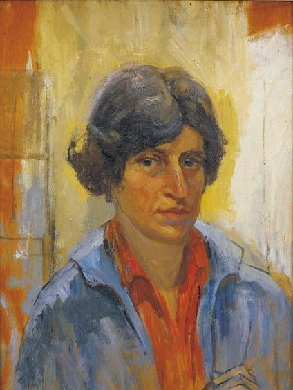 Estelle Sollomons, self-portrait, 1926. Credit - mutualart.com.