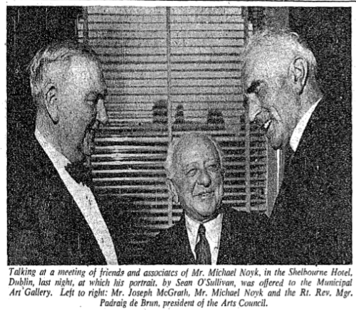 Noyk is honoured with portrait. The Irish Times, 06 Apr 1960.