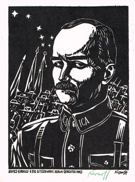 Harry Kernoff signed woodcut of James Connolly (1936). Credit - .icollector.com