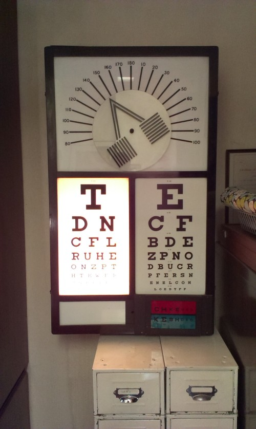 Eye chart. Credit - Sam