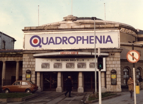 Quadrophenia advertisement at Ambassador. Handpainted by Kevin Freeney (Image Credit: http://www.flickr.com/photos/gentlemanofletters/)