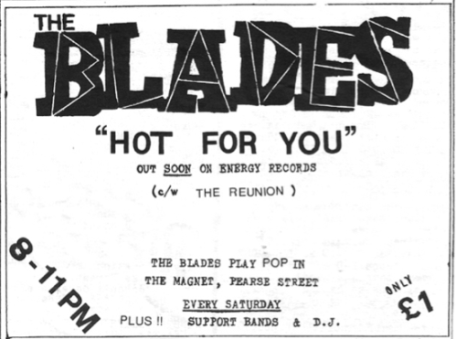 Ad for 'Hot For You' single and Magnet gigs. From Imprint Fanzine (May 1980). Scanned by Brand New Retro.