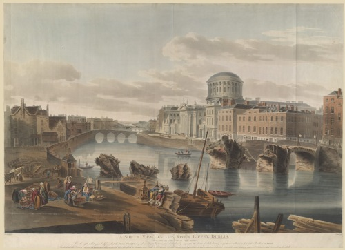 'A South View on the River Liffey, Dublin, 1807'(Credit: British Library, www.bl.uk)