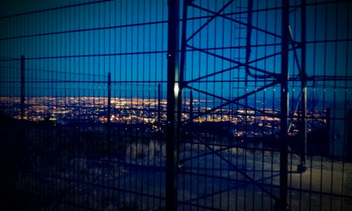 Overlooking Dublin. Photo from transmitter, Three Rock. Jan 2013. Credit - Sam (CHTM!)