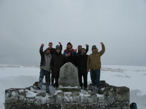 CHTM! and friends at Noel Lemass memorial plaque, January 2013.