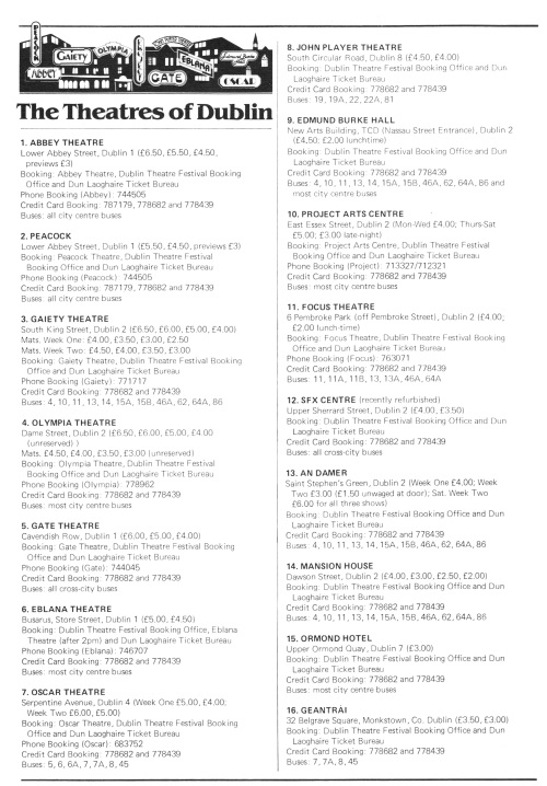 Theatre list. Scanned by Sam (CHTM!).