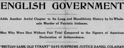 The Kentucky Irish American makes its feelings known, May 1916.