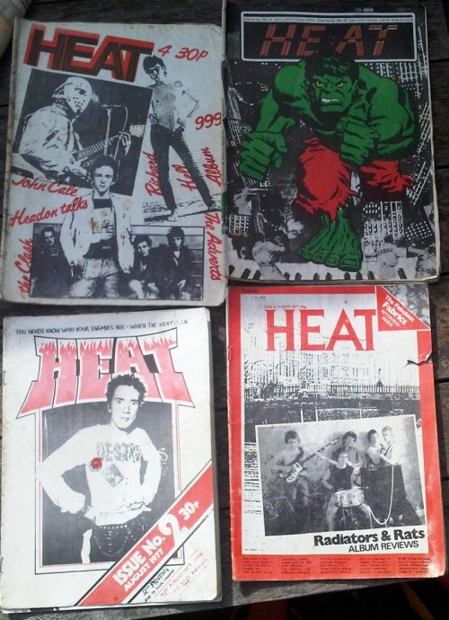 Issues 2 - 5 of Heat fanzine. Credit - brandnewretro.