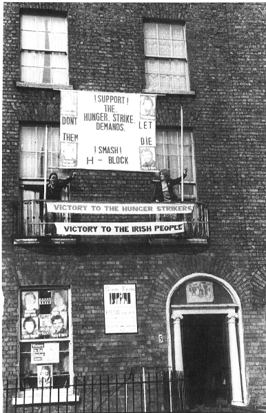 PSF's Blessington St office/drinking club in the early 1980s. Now Dublin Central Hostel. Credit - dublincentralhostel.com