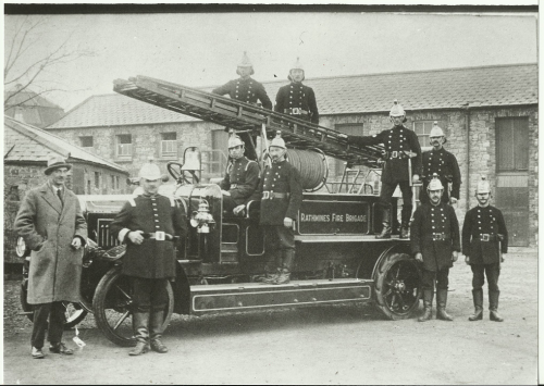 James Heather Thomas, grandfather of Shane MacThomais, in the driving seat of this Rathmines Fire Brigade engine. Shane was deeply proud of his working class heritage. (Thanks to Las Fallon for image)