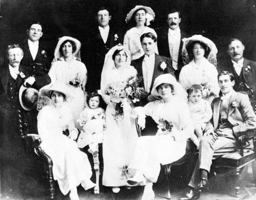 Wedding photo of Sarah Doyle and John Woods, 1915. Credit - ailishm49