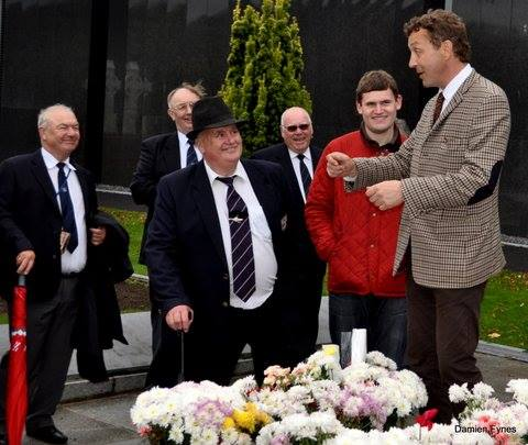 Myself and others enjoying one of Shane's tours in Glasnevin, during a commemoration event for the Pearse Street fire in 1936. (Image:  Damien Fynes)