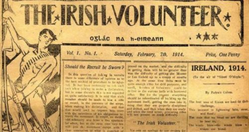 The inaugural issue of the Irish Volunteer newspaper, February 1914.