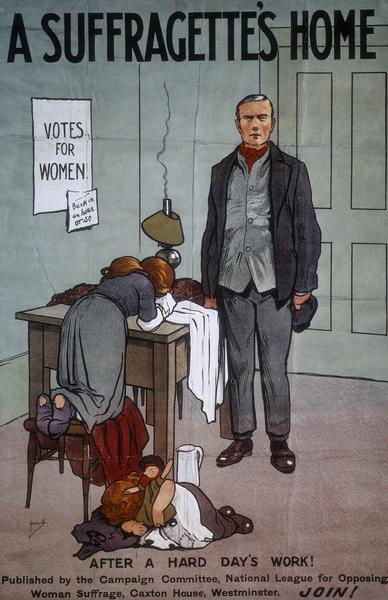 A poster from the League for Opposing Woman Suffrage (UK)
