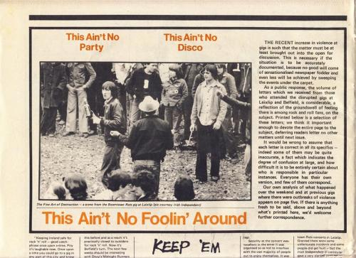 The Boomtown Rats at Leixlip Castle. Hot Press - X 1980. Credit - Where Were You? Facebook page