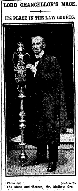 The mace photographed in The Irish Times.
