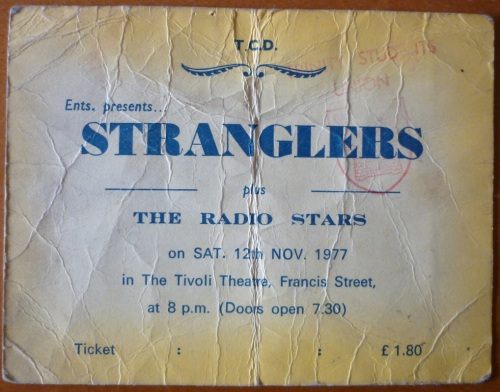 Ticket stub for The Stranglers gig who didn't turn up. Credit - U2earlydayz.com