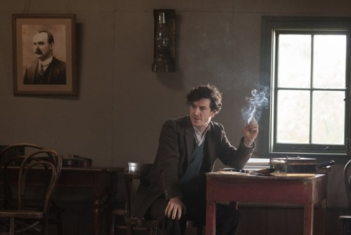 A publicity shot for Jimmy's Hall, showing Aidan Gillen as the Leitrim radical Jimmy Gralton.