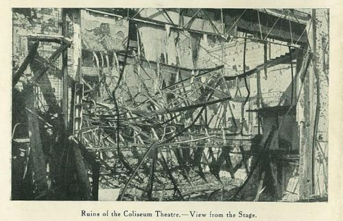 The ruins of the theatre.
