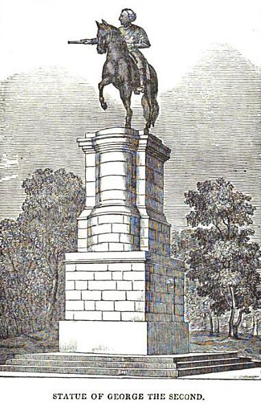 George II statue in St. Stephen's Green (1835)