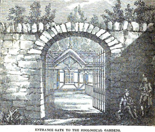 Entrance to the Zoological Gardens (1834)