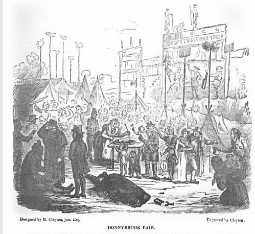 The infamous Donnybrook Fair (1835)