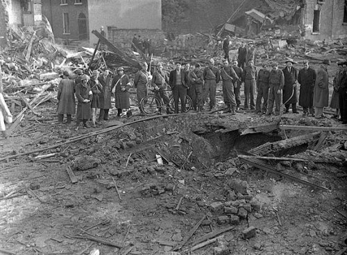 The North Strand following a German bombing.