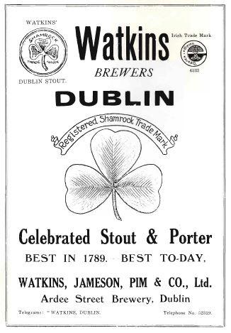 Advertisement for Watkins' Brewers. From the Aonach an Garda programme,1926.