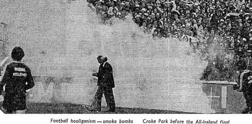 """Football hooligans - smoke bombs"" (Irish Independent, 1978)"