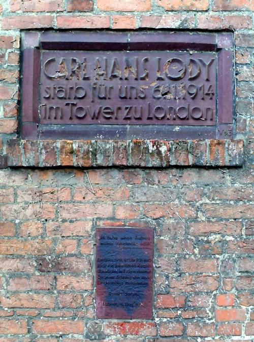 Lody memorial today. Credit - Wikipedia.