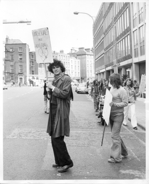 Gay activist outside the Department of Justice, 27 June 1974. Credit - declancashin.com