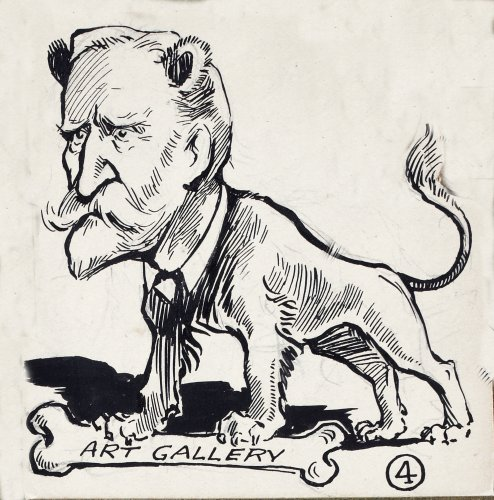 A cartoon that appeared in  The Lepracaun in 1913, showing William Martin Murphy (Image: National Library of Ireland)