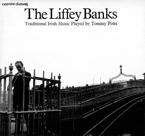LP cover for Tommy Potts 'The Liffey Banks' (1972).