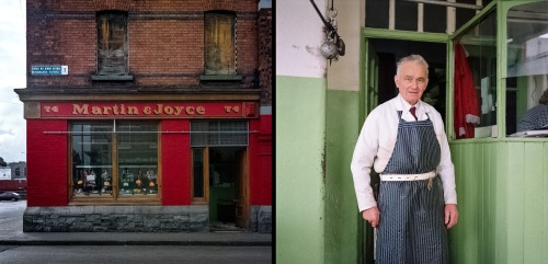 William Gallagher of Martin+Joyce's Butcher shop, Benburb Street (David Jazay)
