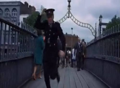 A screengrab from Flight of the Doves showing the surface of the bridge as it appeared in 1970s.