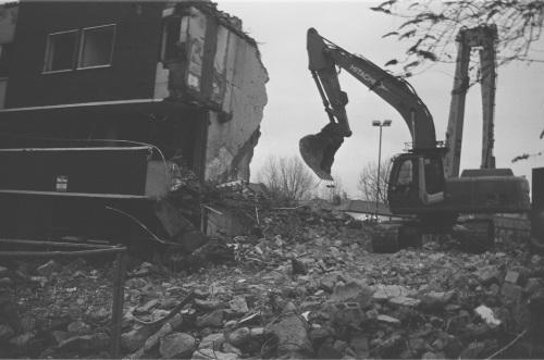Charlemont Street flats demolition.