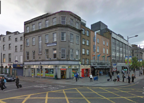 Google Maps view of Londis on the corner of O'Connell Street and Parnell Street.