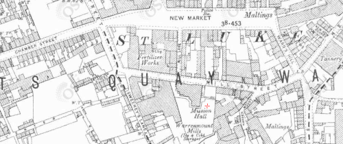 Map of the area in the 1890s.